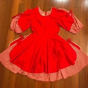 Vintage Square Dancing Apron Dress